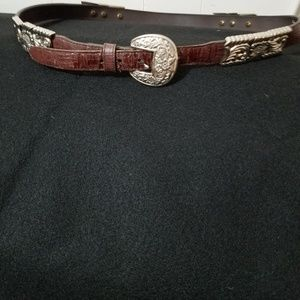 Leather & Metal Belt